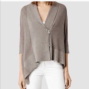 ALL SAINTS Ali Zipper Batwing Sweater Cardigan M